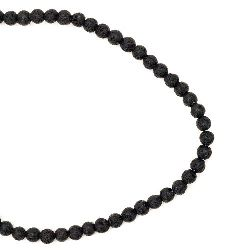 Volcanic lava rock,  natural gemstone round beads string 4 mm ~ 90 pieces