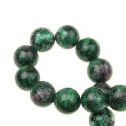 Margele coarde Piatră semi-prețioasă RUBIN ZOISIT Ball 12mm ~ 33 bucăți