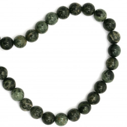 Natural Green Jasper Round Beads Strand 8mm ~ 50 Pieces