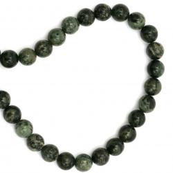 Șireturi mărgele piatră semi-prețioasă minge verde YAPIS 8 mm ~ 50 bucăți