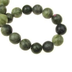 Natural Green Jasper Round Beads Strand 10mm ~39 pieces