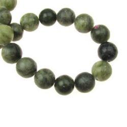 Șireturi mărgele piatră semi-prețioasă minge JASP verde 10mm ~ 39 bucăți
