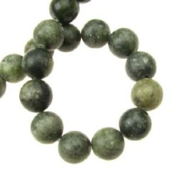 Natural Green Jasper Round Beads Strand 12mm ~33 pieces