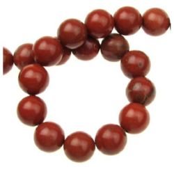 Perle de șiruri Bile de susan semiprețioase din piatră prețioasă JASP10mm ~ 39 bucăți