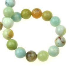 "Grade ""A"" AMAZONITE Round Beads Strand 10mm, ~ 39 pcs"
