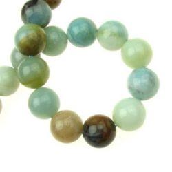 "Grade ""A"" AMAZONITE Round Beads Strand 14mm, ~ 28 pcs"