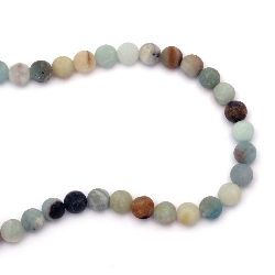 AMAZONITE Frosted Round Beads Strand 10 mm ~ 38 pieces