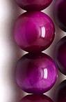 Наниз мъниста полускъпоценен камък ТИГРОВО ОКО циклама топче 6 мм ~66 броя