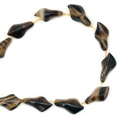 TIGER'S EYE Kalla Lily Beads Strand 16x28x8 mm ~ 12 pcs