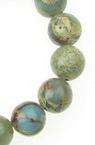 Round, polished semi-precious stone Variscite bead strand 10 mm ~ 38 pieces