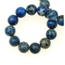 Șir mărgele piatră semiprețioasă bile albastre REGALITE 10 mm ~ 40 buc