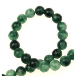 String margele piatră semiprețioasă AHAT bilă verde 6 mm ~ 62 bucăți