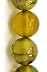 Наниз мъниста полускъпоценен камък АХАТ ДРАКОНОВИ ВЕНИ топче 6 мм ±31 броя