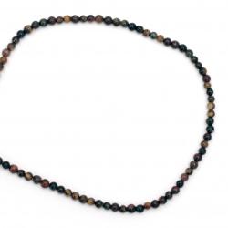 Margele de sfoară piatră semiprețioasă OCHI DE TIGRU galben verde roșu MIX margele 4 mm ~ 90 bucăți