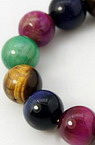 TIGER'S EYE Round Beads Strand Mixed Colors 8mm ~ 24 pcs