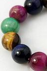 Наниз мъниста полускъпоценен камък ТИГРОВО ОКО МИКС топче 8 мм ~24 броя