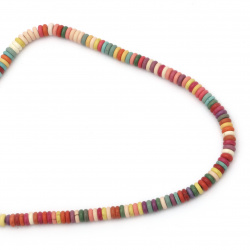 Gemstone Beads Strand, Synthetic Turquoise, Abacus, Mixed color, 6mm, ~142 pcs