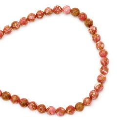 Strand  Beads Semi-Precious Stone TURCOASE sintetic culoare bila 10mm ~ 40 bucăți