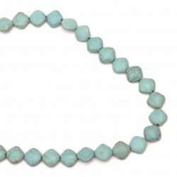GemstoneTURCOASE synthetic diamond 12x14 mm ~ 32 pieces