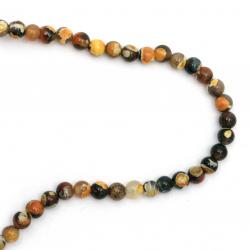 Sir margele piatră semiprețioasă AGAT     mix bila portocaliu mix 6 mm ~ 64 bucăți