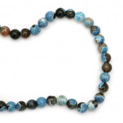 Sir margele piatră semiprețioasă AGAT    albastru mix bila  10 mm ~ 38 bucăți