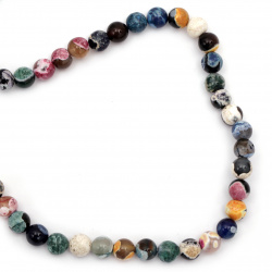 Natural Fire Agate Round Beads Strand, Dyed 10mm ~ 38 pcs