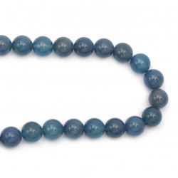 String beads natural Agate blue ball 14 mm ~ 28 pieces