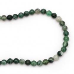 Sir  margele piatră semiprețioasă AGAT verde bila  8 mm ~ 46 bucăți
