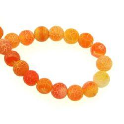 Sir margele piatră semiprețioasă AGAT portocaliiu bila mat 6 mm ~ 65 bucăți