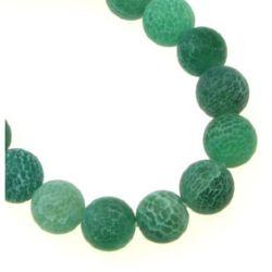 Αχάτης στρόγγυλη ημιπολύτιμη χάντρα 8 mm ματ πράσινο ± 49 τεμάχια