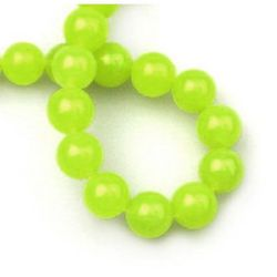 MILKY QUARTZ Round, Dyed, Gemstone Beads Strand 12mm ~ 33 Pieces - color Neon Yellow