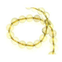 LEMON QUARTZ Round, Dyed, Naturale Gemstone Beads Strand10mm ~ 39 Pieces