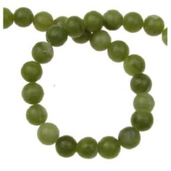 Gemstone Beads Strand, Jadeite, Round, 6mm, ~66 pcs