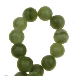 Gemstone Beads Strand, Jade, Round, 10mm, ~40 pcs