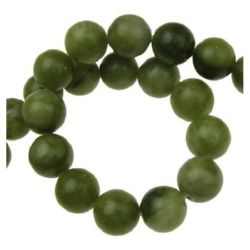 Gemstone Beads Strand, Jade, Round, 12mm, ~33 pcs