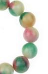 Șirag de mărgele din piatră semiprețioasă AHAT   colorate multicolor bila 10 mm ~ 39 bucăți
