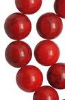 Наниз мъниста полускъпоценен камък ТЮРКОАЗ ЧЕРВЕН топче 4 мм ~100 броя