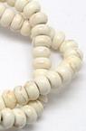 Gemstone Beads Strand, Synthetic Turquoise, Abacus, White, 6x4mm, ~94 pcs