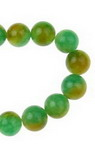 MILKY QUARTZ Round, Dyed, Gemstone Beads Strand 8mm ~ 48 pieces - color Green