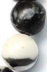 Наниз мъниста полускъпоценен камък ЯСПИС натурален зебра топче 10 мм ~38 броя