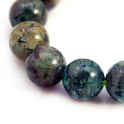 Gemstone Beads Strand, Chrysocolla, Round, Grade A, 8mm, ~38 pcs