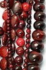 Perle cu șnururi piatră semiprețioasă HRIZOCOLA roșu MIX 4.5 ~ 20x4.5 ~ 20x4.5 ~ 7 mm