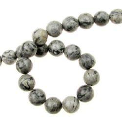 Наниз мъниста полускъпоценен камък ЯСПИС пейзажен топче 10 мм ~36 броя