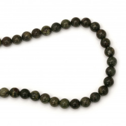 String Beads African GreenStone Jasper   8mm ~ 45 Pieces