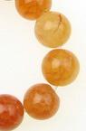 Șirag de mărgele din piatră semiprețioasă AHAT portocaliiu crăpată bila 10 mm ~ 38 bucăți