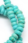 Gemstone Beads Strand, Synthetic Turquoise, Abacus, 6x4mm, ~94 pcs