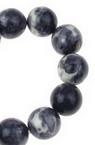 Наниз мъниста полускъпоценен камък ТЮРКОАЗ синтетичен цветен топче 12 мм ±35 броя