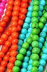 Margele de sfoară piatră semiprețioasă TURCOASE sintetică culori asortate bilă 10mm ~ 38 bucăți