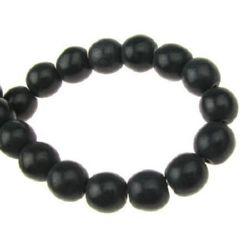 Margele sirag piatră semiprețioasă TURCOASE bilă neagră sintetică 8 mm ± 50 bucăți