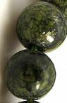 Наниз мъниста полускъпоценен камък ЗМЕЕВИК топче 6 мм ~66 броя